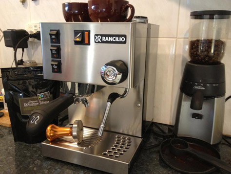 Our new Rancilio Silva coffee machine