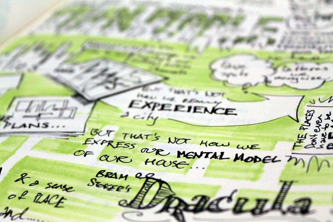 Close-up picture of one of my sketchnotes from UX Australia